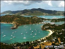 View of English Harbour, Antigua island