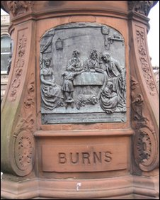 Burns statue, Lith, photo courtesy of Michael TRB Turnbull
