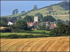 Rural scene in Somerset.
