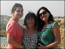 Treeva (left) with her mother and sister
