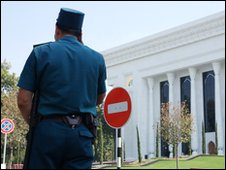 Police officer in Uzbekistan