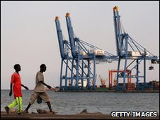 Dock workers at Port of Djibouti