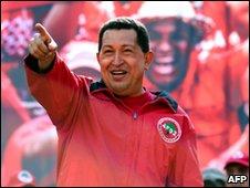 Venezuelan President Hugo Chavez in Caracas 23 January 2010