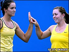 Laura Robson and Sally Peers