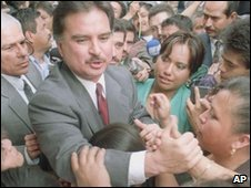 Former Guatemalan President Alfonso Portillo in a file photo from 2000
