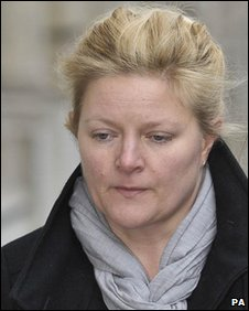Rachel Baker arriving at court on a previous occasion
