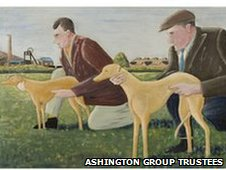 Whippets by George Blessed, c 1939