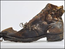 A boot found in a burial pit at Fromelles