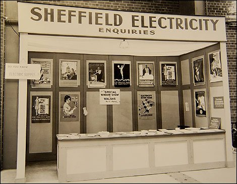Sheffield Electrcity display at one of the electrical appliance showrooms
