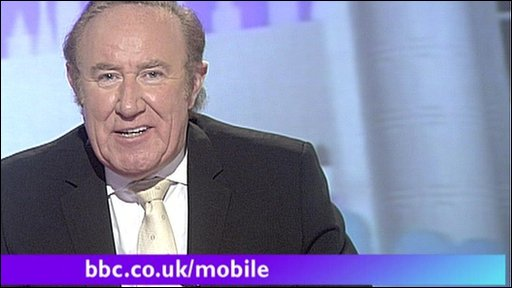 Andrew Neil with mobile aston