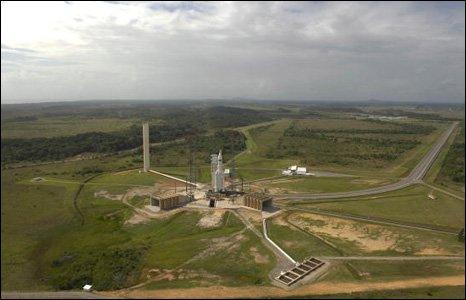 Kourou rocket launch site in French Guiana