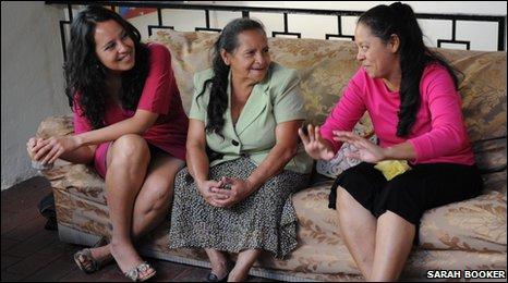 Martina Torresendi, Graciela Ruiz and Flor de Maria Ruiz