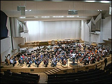 Inside the Finlandia Concert Hall