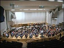 Inside the Finlandia Concert Hall