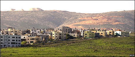 Wide view, village of Ghajar