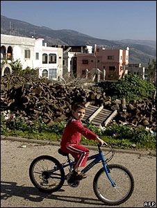 Ghajar child on bike