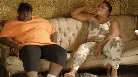 Gabourey Sidibe (Precious) and Mo&#039;Nique