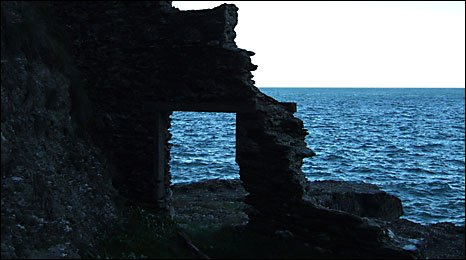 The ruins of Hallsands
