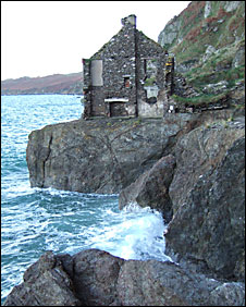 A ruined house in Hallsands