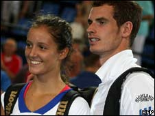 Tennis players Laura Robson and Andy Murray