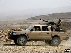 Yemeni army vehicle in Saada province (file image)