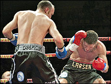 Brian Magee stopped Mads Larsen in the seventh round in Denmark