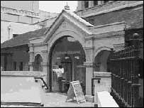 The entrance to the Malvern Winter Gardens