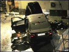 Scene of Zagreb bomb