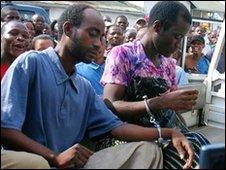 Steven Monjeza (L) and Tiwonge Chimbalanga, 04/10