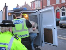 ... - Newsbeat - Police and trading standards raid suspected loan shark