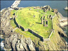 Peel Castle courtesy of Manx National Heritage