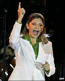 Laura Chinchilla of the National Liberation Party