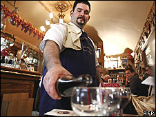 Waiter in French restaurant