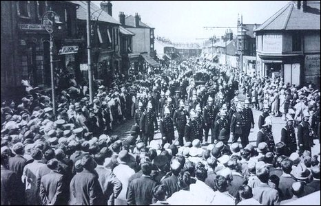 The streets of Gillingham were lined with thousands of mourners