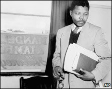 Nelson Mandela in the office of his Johannesburg law practice