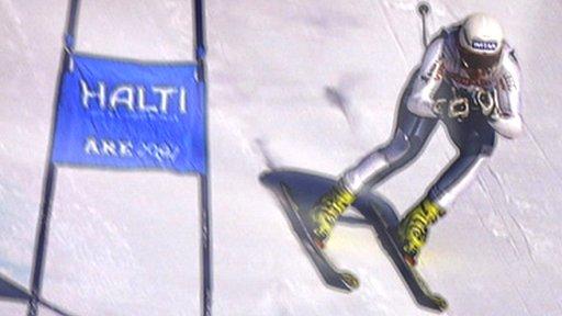 Super G skier