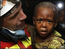 Haiti earthquake survivor Redjeson Hausteen Claude