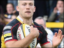 Wing Richard Fussell has been in good form for the Dragons