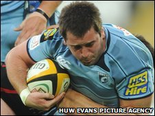 Centre Dafydd Hewitt is a product of the Cardiff Blues academy