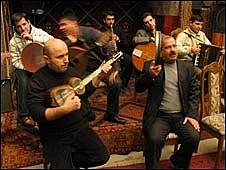 Mugham performers, Baku