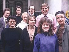 Bureau staff in 1989
