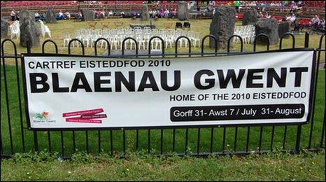 Arwydd Eisteddfod Blaenau Gwent