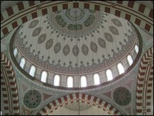 Inside the Rustem Pasha Mosque (completed by Sinan in 1563)