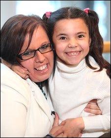 Nadia Fawzi and her mother Sarah Taylor