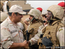 Deputy Defence Minister Prince Khalid bin Sultan inspects Saudi Troops [file photo January 2009]