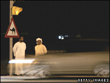 A driver speeds down a Dubai street [file photo]