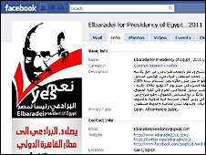 The ElBaradei for president facebook page