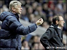 Arsenal boss Arsene Wenger and his Villa counterpart Martin O'Neill