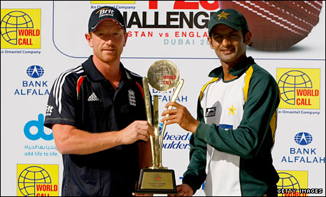 England Twenty20 captain Paul Collingwood and Pakistan stand-in skipper Shoaib Malik