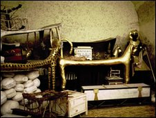 A replica of Tutankhamun's antechamber [where his tomb was found]